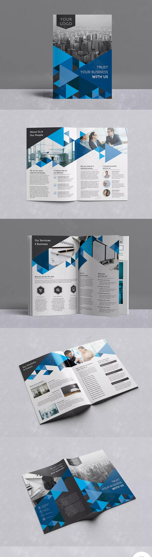 蓝色时尚企业宣传册